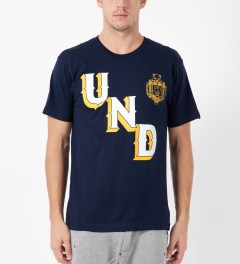 Undefeated Navy UNDFTD Crest T-Shirt Model Picture