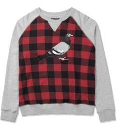 Staple Heather Tartan Pigeon Crewneck Sweater Picture