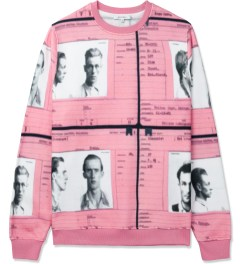 Carven Pink Molleton Print Passports Crewneck Sweater Picture