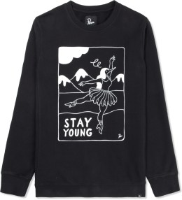 Rockwell by Parra Black Stay Young Crewneck Sweater Picture