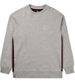 Stussy Heather Grey Lux Fleece Crew Sweater Picutre