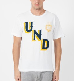 Undefeated White UNDFTD Crest T-Shirt Model Picture