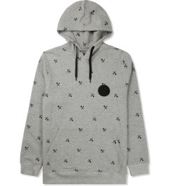 Us Versus Them Heather Grey Crosscut Pattern Hoodie Picture