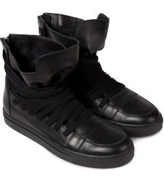 KRISVANASSCHE Black Multi Laces Sneakers Model Picutre