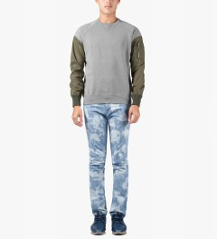 PHENOMENON Light Indigo Bleached Skinny Jeans Model Picutre