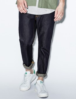 Nudie Jeans Blue Thin Finn Dry Selvage Denim Jeans Picture