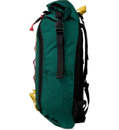 TOPO DESIGNS Teal Roll Top Backpack Model Picture