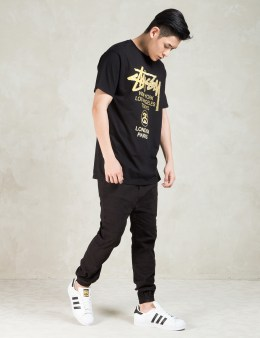 Stussy Black WT Gold T-Shirt Picture