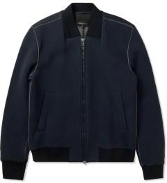 3.1 Phillip Lim Navy/Grey Front Welt Pockets Harrington Zip Up Jacket Picture