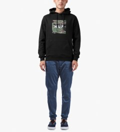 HUF Black Tiger Camo Pullover Hoodie Model Picture