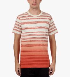 Stussy Orange Fade Tom Tom Crewneck T-Shirt Model Picutre