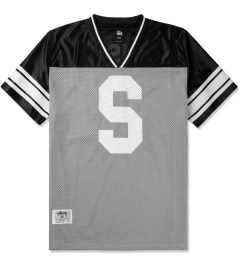 Stussy Grey All City Football S/S Crew Jersey Picutre