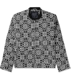 Tourne de Transmission White/Black Ikat Bomber Jacket Picutre