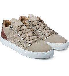 Filling Pieces Beige/Red Mountain Cut Gradient Perforated Shoe Model Picutre