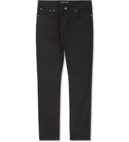 Nudie Jeans Black Ring Thin Finn Jeans Picture