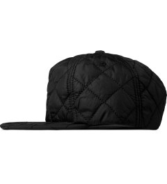 Stampd Black Nylon Quilted Bomber Snapback Cap Model Picture