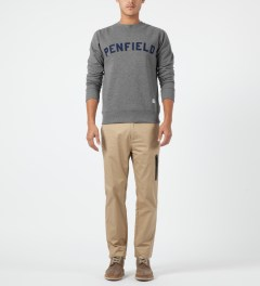 Penfield Grey Melange Brookport Crewneck Sweater Model Picture