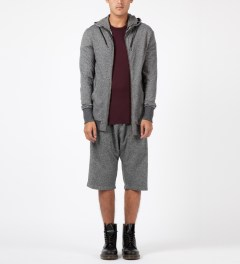 SILENT Damir Doma Grey Poros Sweatshorts Model Picture