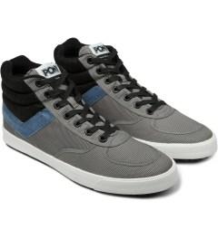 PONY Mid Grey/Blue Slamdunk VULC Hi Sneakers Model Picutre