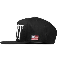 Stampd Black East Snapback Cap Model Picutre