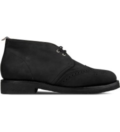 Thom Browne Black Wingtip Chukka Boots Picutre