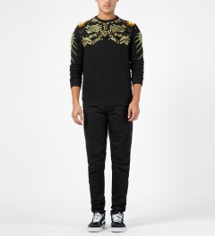 maharishi Black Long Fitted Cargo Pants Model Picture