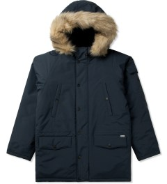 Carhartt WORK IN PROGRESS Navy/black Anchorage Parka Jacket Picutre