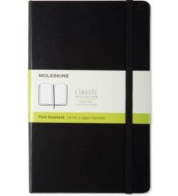 MOLESKINE Black Hard Cover Plain Large Notebook Picture