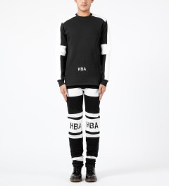 Hood By Air. Black/White Hockey Jeans Model Picture