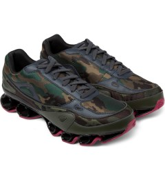 adidas Originals Pink/Camo Raf Simons x Adidas Bounce Sneakers Model Picture