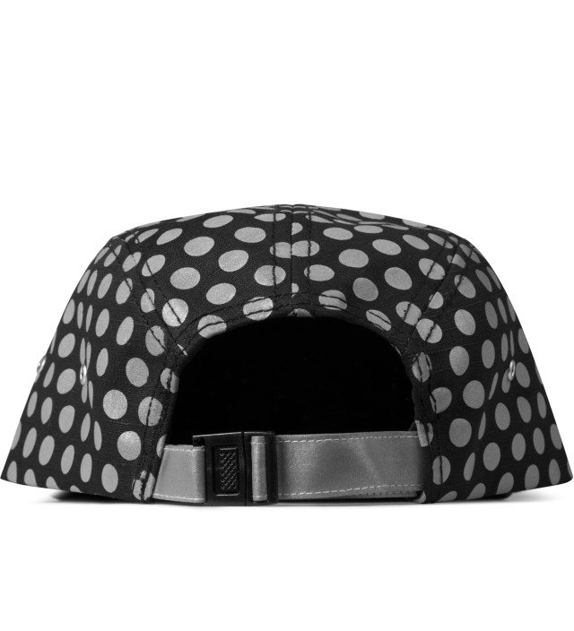 Black Dotted 5-Panel Cap