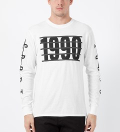 ICNY White 1990 L/S Basic T-Shirt Model Picture
