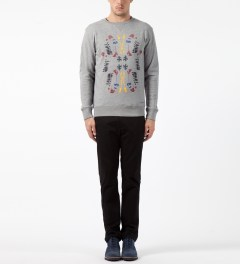 SATURDAYS Surf NYC Heather Grey Bowery Garden Sweater Model Picture