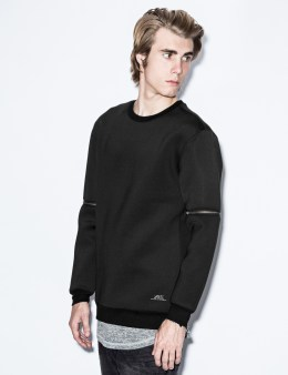 i love ugly. Black Dax Zip Sleeve Crewneck Picture