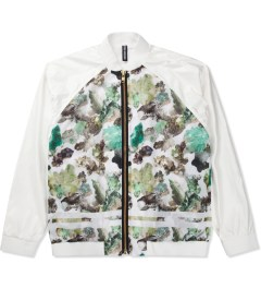 ASTRID ANDERSEN Printed Bomber Mesh Lining Nylon Jacket Picutre