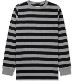 SATURDAYS Surf NYC Ash Heather James Stripe Sweater Picture