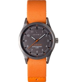 TRIWA Orange Mono Canvas Walter Lansen Watch Picture