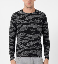Undefeated Black Camo Technical II L/S T-Shirt Model Picture