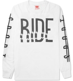 ICNY White Ride L/S Basic T-Shirt Picture