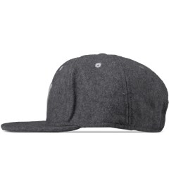 Wood Wood Grey Melange Logo Wool Cap Model Picture