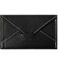 (multee)project Black Leather Envelope Card Case Picture