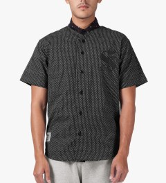 Stussy Black S Baseball SU14 Jersey Model Picture