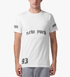 Stampd White NY/LA T-Shirt Model Picture