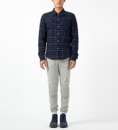 Band of Outsiders Blue L/S Button Down Shirt Model Picture
