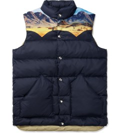 Penfield Navy Mojave Yoke Down Vest Picture
