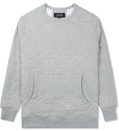 LAPSE Grey Melange Mirage Crewneck Sweater Picutre