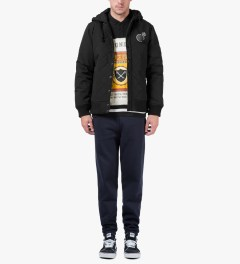 The Hundreds Black Pitch Crewneck Sweater Model Picture