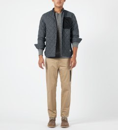 Penfield Navy Harrison L/S Quilted Shirt Model Picture