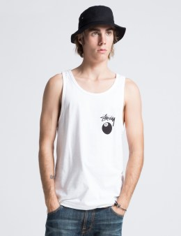 Stussy White 8 Ball Tank Picture