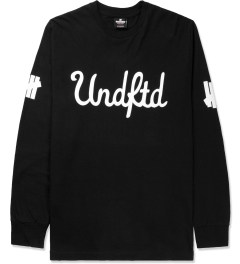 Undefeated Black 5 Script L/S T-Shirt Picture